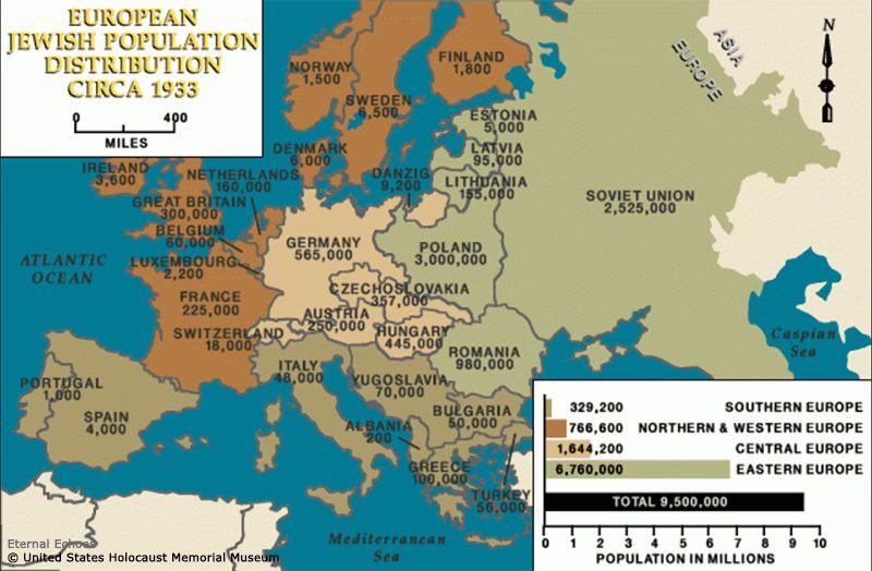 1-2 European Jewish population 1933