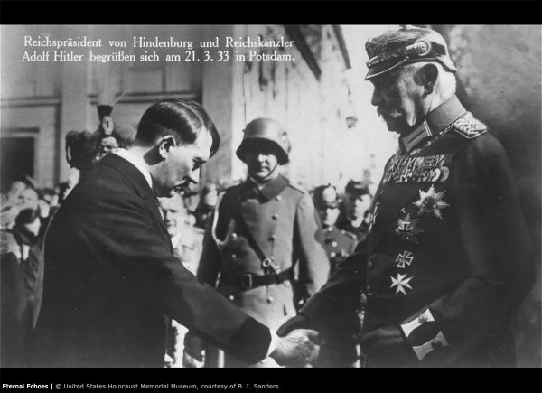 3-1 Postcard 1933 Hitler Hindenburg